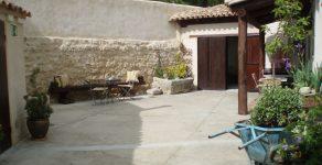 Amplio patio privado exterior casa rural Lindo huésped